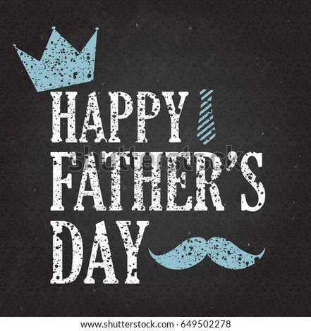 fathers day retro poster