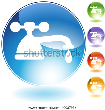 faucet crystal icon isolated on a white background.
