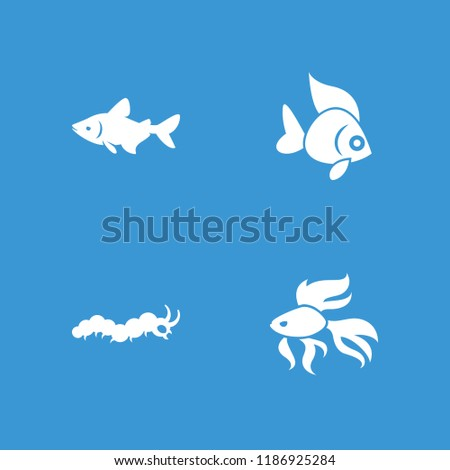 Fauna icon. collection of 4 fauna filled icons such as fish. editable fauna icons for web and mobile. - Shutterstock ID 1186925284