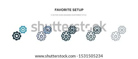 favorite setup icon in different style vector illustration. two colored and black favorite setup vector icons designed in filled, outline, line and stroke style can be used for web, mobile, ui