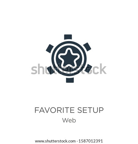 Favorite setup icon vector. Trendy flat favorite setup icon from web collection isolated on white background. Vector illustration can be used for web and mobile graphic design, logo, eps10