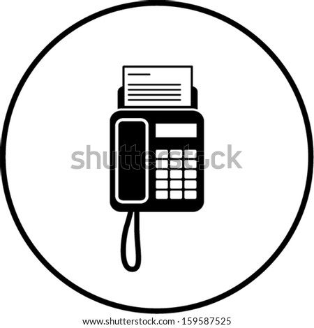 Fax Machine Symbol Stock Vector Illustration 159587525 : Shutterstock
