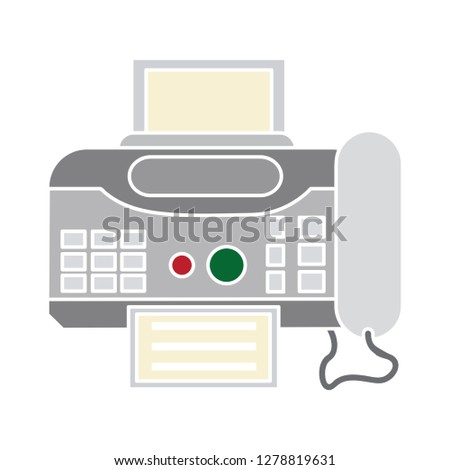 fax sign icon-print Illustration-document Symbol-laser jet Vector-office Isolated-internet Symbol-computer Vector-ink Isolated