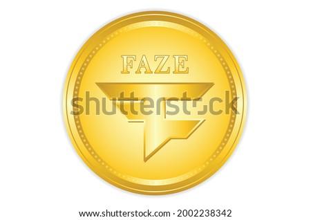 Faze coin crypto with golden colour, crypto currency. vector eps10 Foto stock ©