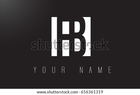 FB Letter Logo With Black and White Letters Negative Space Design.
