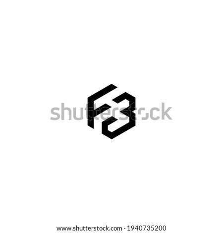 fb logo latter vector templete