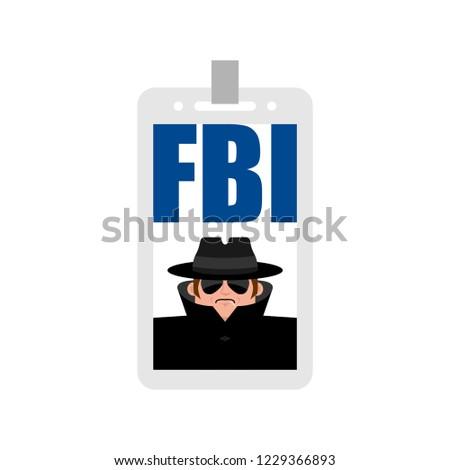 Fbi badge isolated. Federal Bureau of Investigation sign