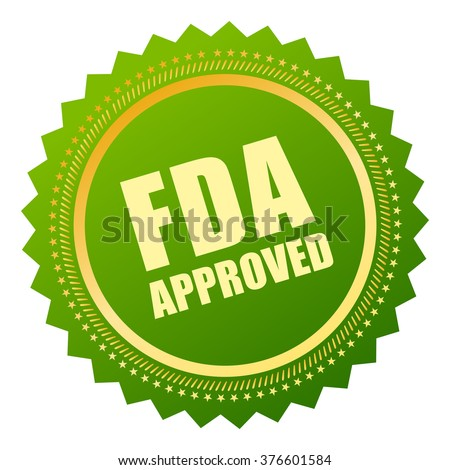 Fda approved icon, vector illustration isolated on white background