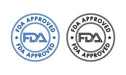 FDA approved logo template illustration