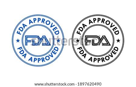 FDA approved logo template illustration Photo stock ©