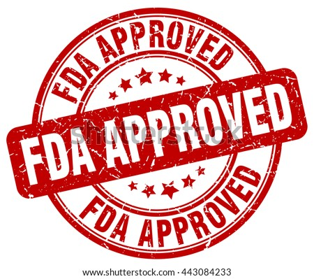 fda approved. stamp