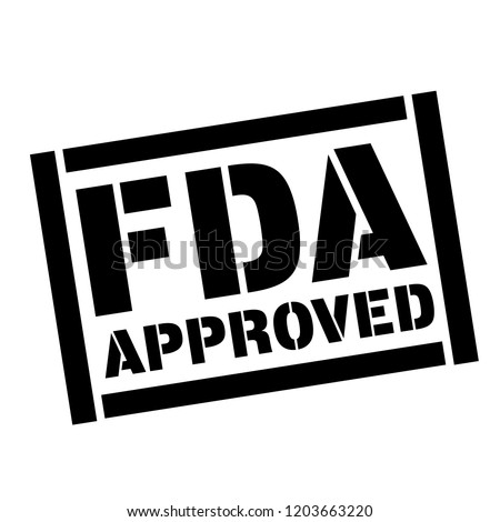 fda approved stamp on white background. Sign, label, sticker.