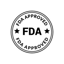 Fda approved stamp. rubber stamp with the text Fda approved. Fda approved label, badge, logo,seal