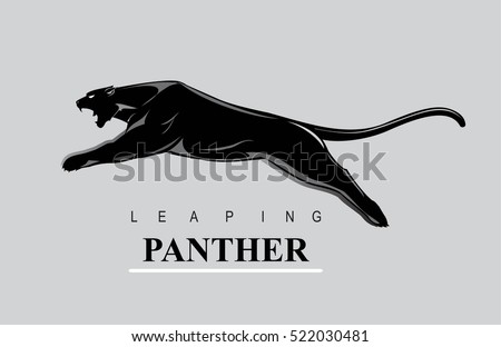 Fearless Panther. Leaping panther. Roaring Panther.