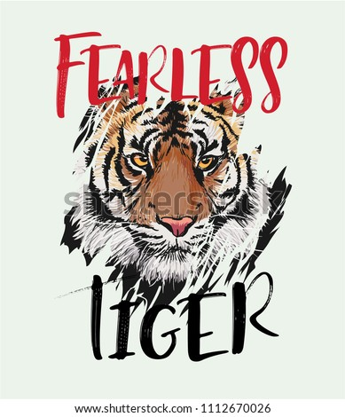 fearless tiger slogan with