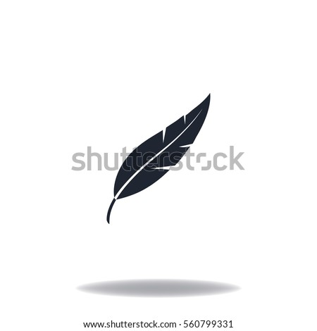 Feather icon, vector design