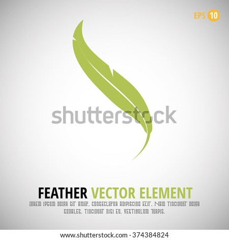 feather icon vector element