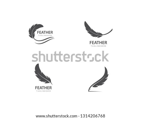 feather logo vector template