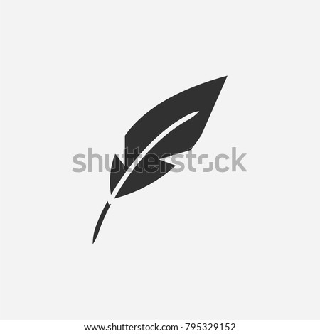 Feather pen icon illustration isolated vector sign symbol