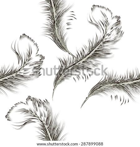 feather pen seamless