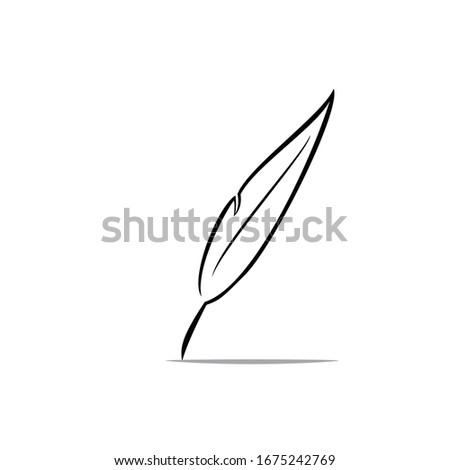 feather pen simple minimalist