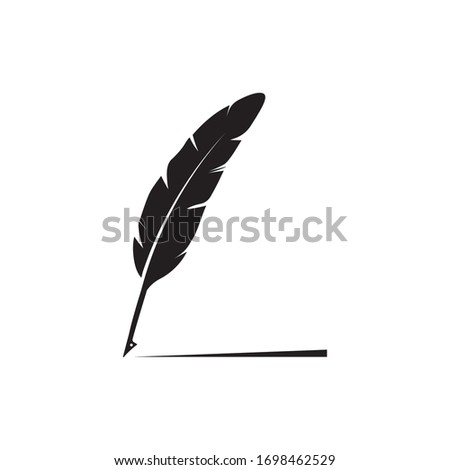 feather quill pen icon classic