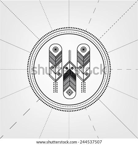 feathers symbol logo. ornament. ...