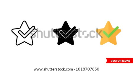 Features icon of 3 types: color, black and white, outline. Isolated vector sign symbol. Foto stock ©