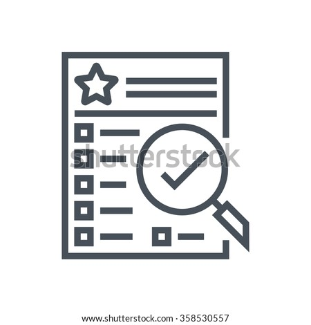 Features list icon suitable for info graphics, websites and print media and  interfaces. Line vector icon.  Foto stock ©