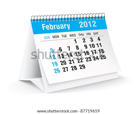 february 2012 desk calendar