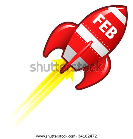 february calendar clip art. stock vector : February month