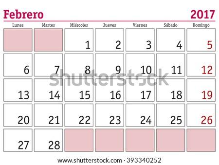 november calendar in sapinsh 2018