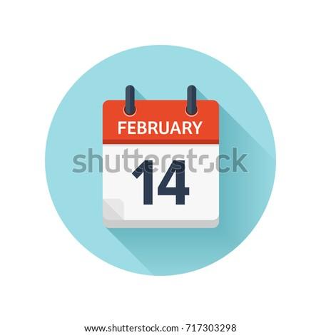 february 14 vector flat daily