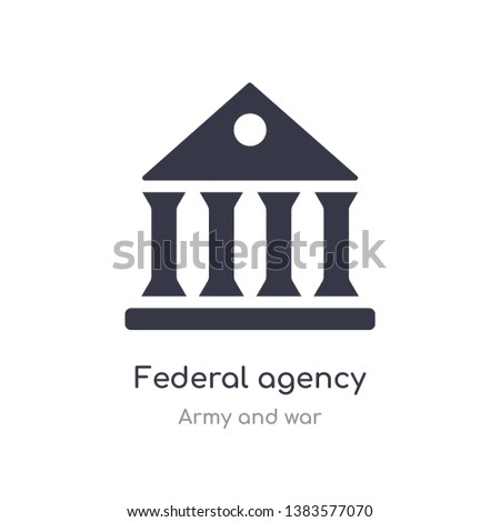 federal agency icon. isolated federal agency icon vector illustration from army and war collection. editable sing symbol can be use for web site and mobile app