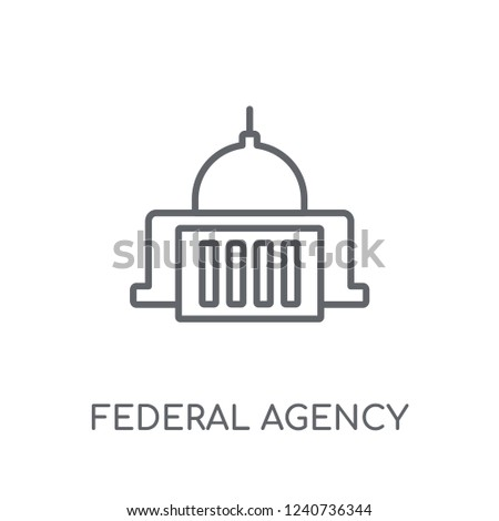 federal agency linear icon. Modern outline federal agency logo concept on white background from army and war collection. Suitable for use on web apps, mobile apps and print media.