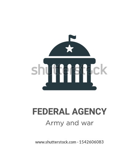 Federal agency vector icon on white background. Flat vector federal agency icon symbol sign from modern army and war collection for mobile concept and web apps design.