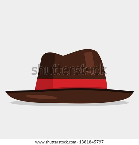 fedora hat vector illustration on white background Stock photo ©