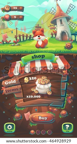 feed the fox gui match 3 shop