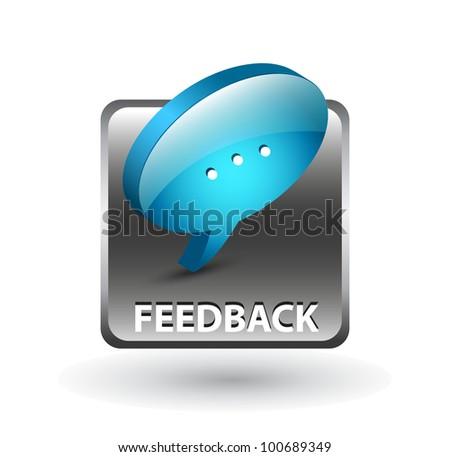 Feedback button, feedback icon and button