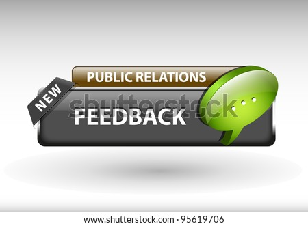 Feedback button, feedback icon and button