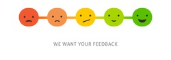Feedback concept design, emotions scale background and banner
