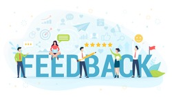 Feedback concept illustration. Idea of reviews and advices.