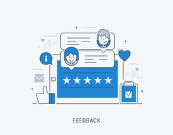 Feedback concept vector illustration. Idea of reviews and advices.