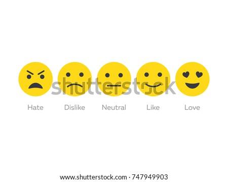 feedback emoticon icon set