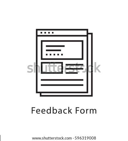 Feedback Form Vector Line Icon