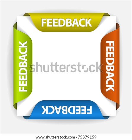 Feedback Labels / Stickers on the edge of the (web) page