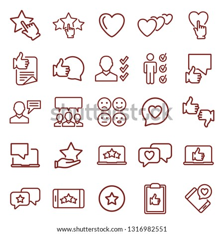 feedback. minimal thin line web icon set. simple vector illustration outline. concept for infographic, website or app.
