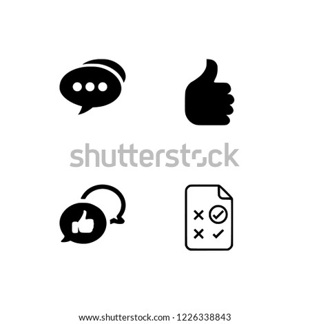 Feedback, rating, app user feedback, client, like, grade, grading, ranking, category, assessment icon set. EPS 10 vector format. Set icon EPS 10 vector format. Transparent background. #1226338843