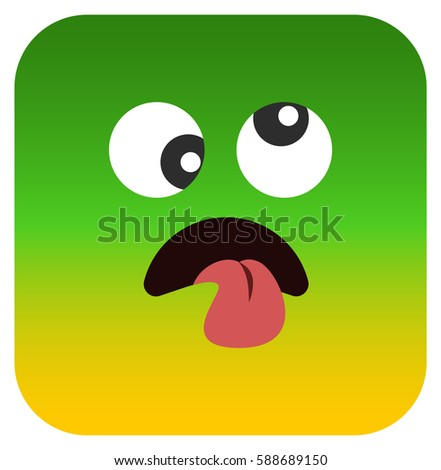 feel bad emoticon on yellow