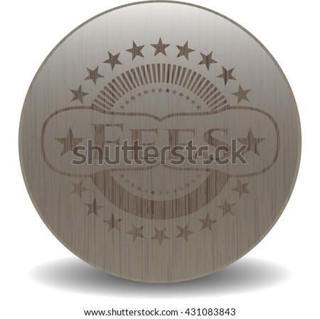 Fees retro wooden emblem